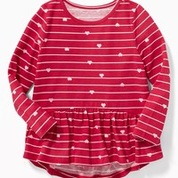 Graphic Peplum-Hem Top for Toddler Girls |old-navy