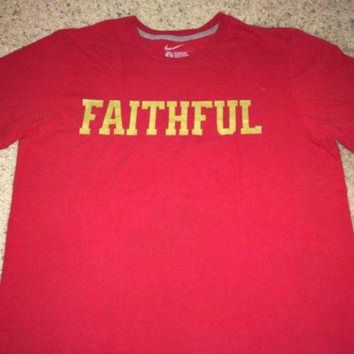 PEAPYD9 Sale!! Nike SF 49ers Faithful tee San Francisco Football Shirt NFL Jersey