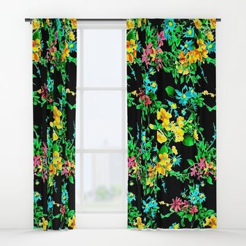 Lemon Blossom Window Curtains by Azima