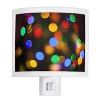 Multicolored Christmas lights. Night Light