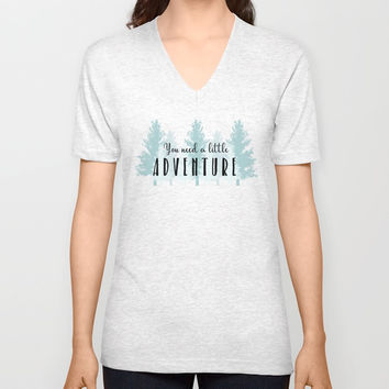 A Little Adventure Unisex V-Neck by Elizabeth Schulz