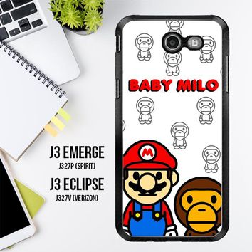 Baby Milo And Mario W4812 Samsung Galaxy J3 Emerge, J3 Eclipse , Amp Prime 2, Express Prime 2 2017 SM J327 Case