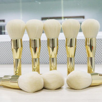 Gold Make Up Powder Brush Womens Gift