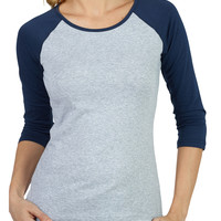 LE3NO Womens Lightweight 3/4 Sleeve Raglan Baseball T Shirt (CLEARANCE)