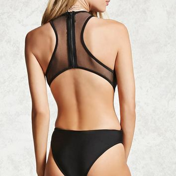 Plunging Mesh One-Piece