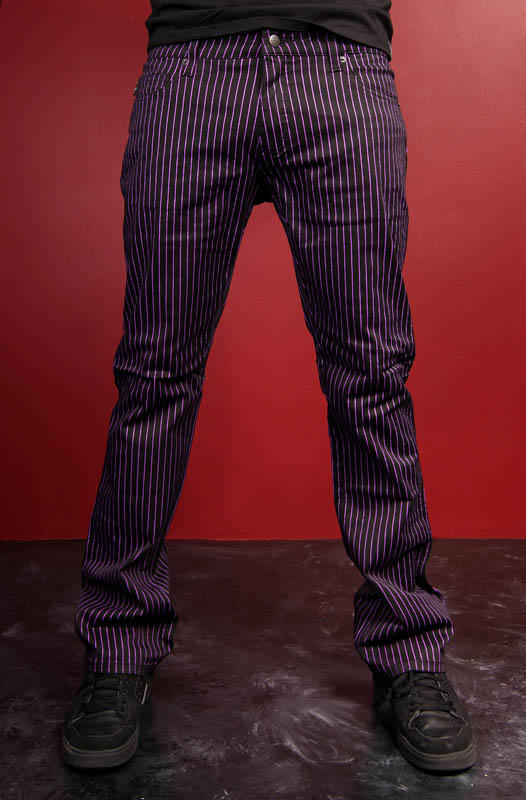 Tripp Purple Pinstripe Joker Pants From Vampirefreaks Com