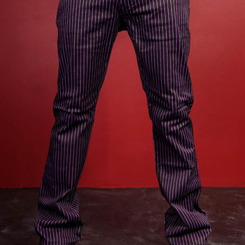 Tripp Purple Pinstripe Joker Pants :: VampireFreaks Store :: Gothic Clothing, Cyber-goth, punk, metal, alternative, rave, freak fashions