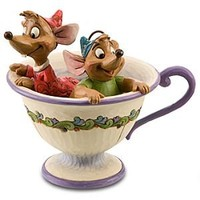 ''Tea for Two'' Gus and Jaq Figurine by Jim Shore | Disney Store
