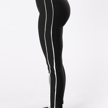 Rear View Leggings - Black