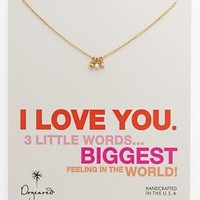 Dogeared '3 Little Words' Boxed Charm Necklace
