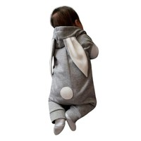 Cute Easter baby rabbit ear warm Newborn Infant Kids Baby Boy Girl Romper Hooded Jumpsuit Outfit Clothes