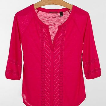 BKE Red Embroidered Top