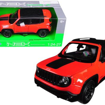 Jeep Renegade Trailhawk Orange 1:24 - 1:27 Diecast Model Car by Welly