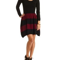 Color Block Striped Sweater Dress by Charlotte Russe