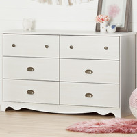 Caravell 6 Drawer Double Dresser
