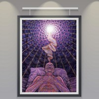 Trippy Alex Grey Art Silk Fabric Psychedelic Poster Print Classic Wall Home Decor 12x16 18x24 24X32 Inches Free Shipping