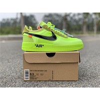 OFF WHITE x Nike Air Force 1 Volt | AO4606-700 Sport Running Shoes - Best Online Sale