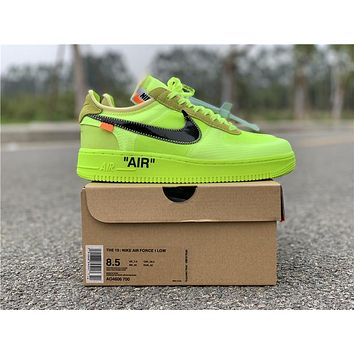 OFF WHITE x Nike Air Force 1 Volt  eb98973fd3