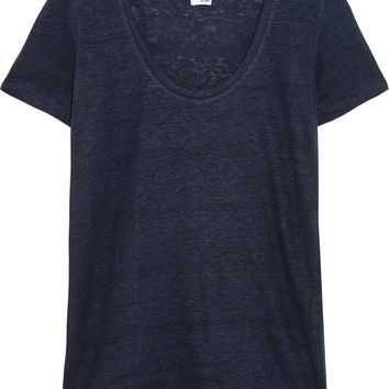 Linen-jersey T-shirt | Iris and Ink | US | THE OUTNET