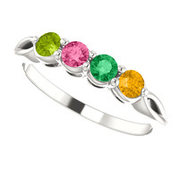 4 Stone Custom Birthstone Ring