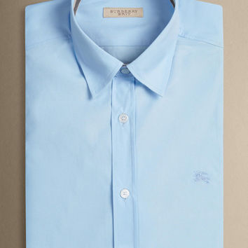 Burberry Brit Business shirt Pale Blue Long Sleeve Size XL L M S Slim fit FREE shipping