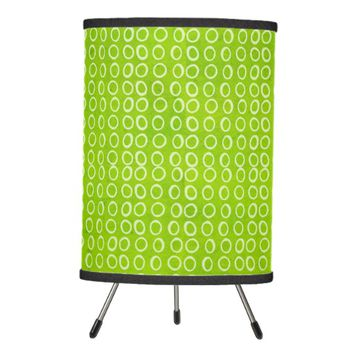 Lime Green Watercolor Geometric Circles Table Lamp
