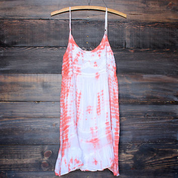 tie dye for mini dress | bohemian orange