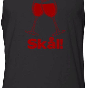 Wine Glass Swedish Cheers (Red) Tank-Top T-Shirt