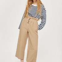Paper Bag Button Up Pants