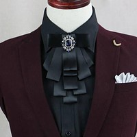 Mens Collar Bowtie Grooms Suits Tuxedo Bow Ties for Women Gravatas Ribbon Polyester Neck Ties Neckwear Accessory