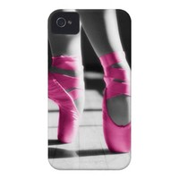 Bright Pink Ballet Shoes iPhone 4 Cases from Zazzle.com