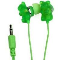 Gummy Bear 11024-GREEN-TRU Scented Green Apple Earbuds