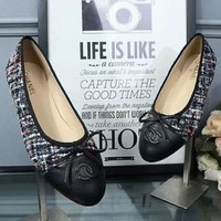 Chanel Summer Spring and Autumn Women Flats Fashion Boat Shoes Woman Casual Brand Single Shoes Black G-ALS-XZ