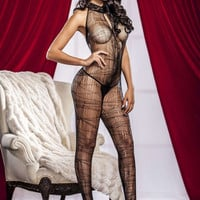 iCollection Lingerie Spider Web Bodystocking