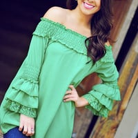 It's A Fiesta Tunic: Kelly Green | Hope's