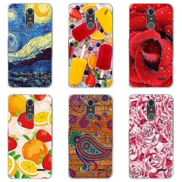 Luxury Printing Case For ZTE Grand X4 X 4 Z956 Art Printed Flower Cell Phone Cover Rose Funda Cute Animal Coque