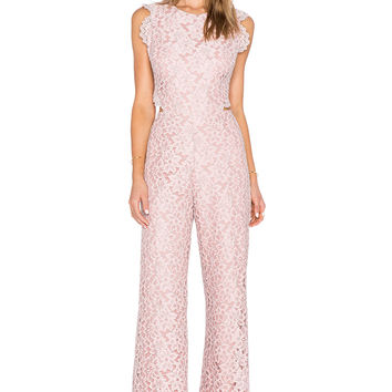 Alexis Livia Lace Jumpsuit in Pink Lace
