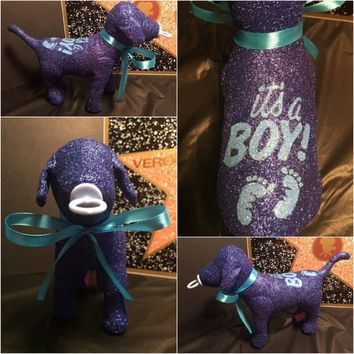 It's A Boy Baby Shower Surprise Custom Victoria Secret Dog