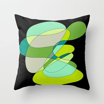 Abstract 3 Throw Pillow by DuckyB (Brandi)