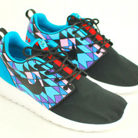 Custom Sneakers - Hand Painted Tribal pattern Nike Roshe One's - Custom Roshe Run