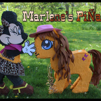 Minnie or Mickey mouse Piñata ..! Minnie cowgirl pinata...!