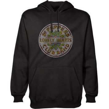 Beatles Men's  Sgt Pepper Hooded Sweatshirt Black