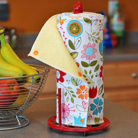 Reusable, Eco Friendly Snapping Paper Towel Set - Choose your Print - Cotton and Terry Cloth