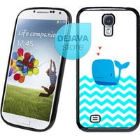 Mint Chevron Whale Samsung Galaxy S4 Case