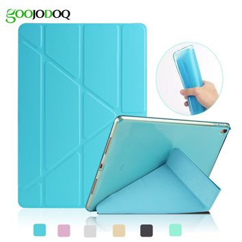 For iPad Air 2 Air 1 Case with Glitter Silicone Soft Back Smart Cover for iPad Mini 1 2 3 Transformers PU Leather Tablet Case