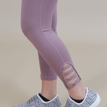 Farrah Criss Cross Legging, Light Mauve