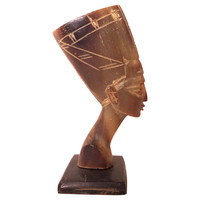 Horn-Carved Egyptian Bust