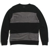 Paneled Longsleeve Crew Black / Grey