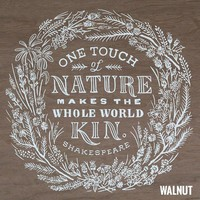 Touch of Nature Wood Poster
