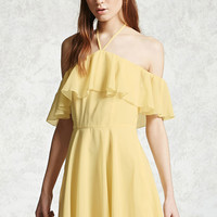 Chiffon Halter Neck Dress
